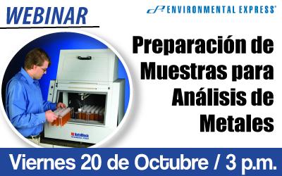 Preparación  de Muestras para  Análisis de Metales