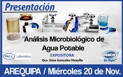 Análisis Microbiológico de  Agua Potable – Arequipa