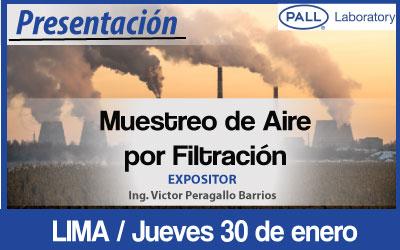 Muestreo de Aire por Filtración – Lima