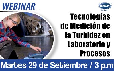 Tecnologías de Medición de la Turbidez en Laboratorio y Procesos