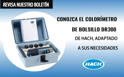Conozca el COLORÍMETRO DE BOLSILLO DR300 de HACH, adaptado a sus necesidades