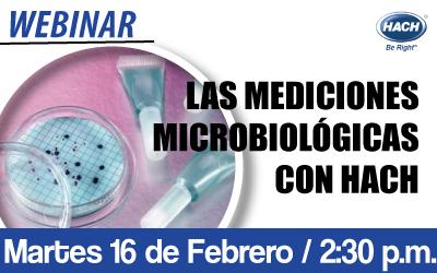 LAS MEDICIONES  MICROBIOLÓGICAS  CON HACH