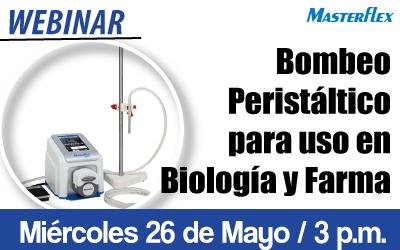 Bombeo Peristáltico para uso en Biología y Farma
