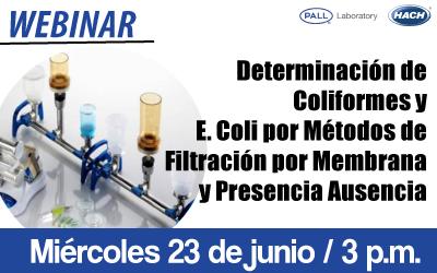 Determinación de Coliformes y  E. Coli por Métodos de Filtración por Membrana y Presencia Ausencia