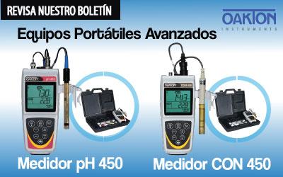 Equipos Portátiles Avanzados  para medir pH y Conductividad