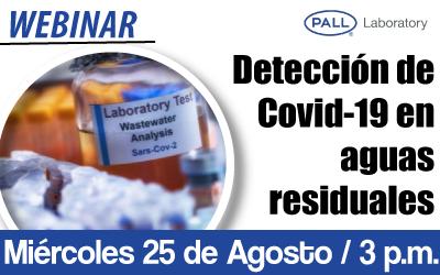 Detección de Covid-19 en aguas residuales
