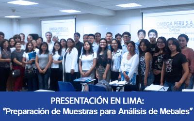 Preparación de muestras para  análisis de metales – Lima
