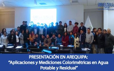 Aplicaciones y Mediciones Colorimétricas en Agua Potable y Residual – 24 de julio – Arequipa