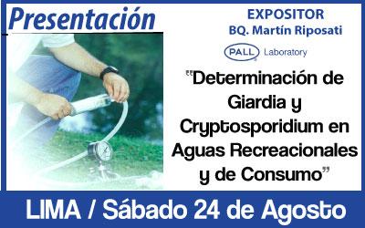 Determinación de Giardia Cryptosporidium en Aguas Recreacionales y de Consumo