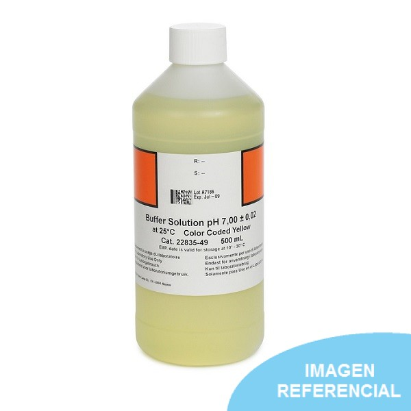 Solución buffer de pH 7.00 de 500ml