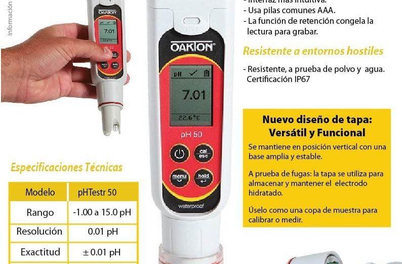 Boletín 76 Nuevo Medidor de Bolsillo de pH Testr 50