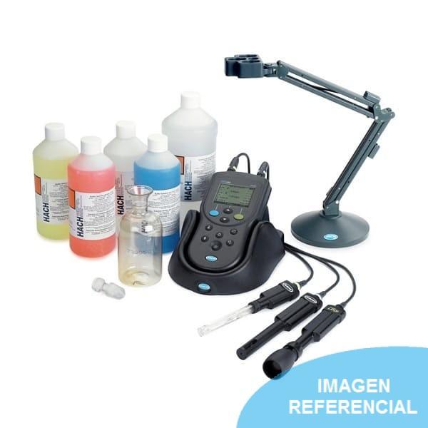 Medidor multiparámetro portátil de doble entrada IntelliCAL con sensor de pH, Conductividad y LDO