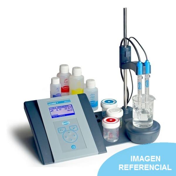 Medidor de pH y conductividad de mesa Sension+